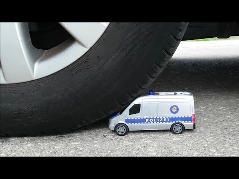 EXPERIMENT Car vs A Toy Police Cars with Jano Tests