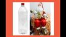 Passo a passo Papai Noel de garrafa Pet