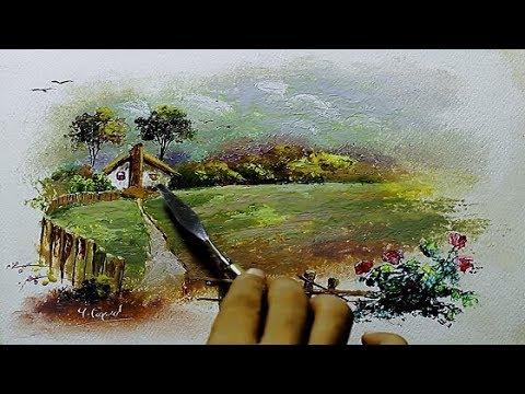Palette Knife Landscape Painting By Yasser Fayad