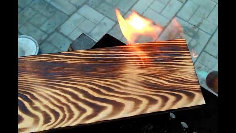 Мастерская MWood   Изделия из дерева   Самара. Обжиг дерева.