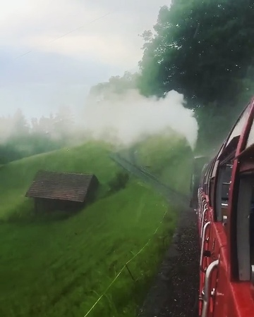 """Vacations Focus 🌎🌍🌏 on Instagram: """"(📹: @sennarelax) Rainy day 🚂 in Switzerland 🇨🇭 Tag your friends who would like to take this 🚂 ? ➡️ VacationsFocus"""""""