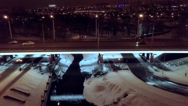 Освещение автомобильного моста, г. Белгород, пр-т Богдана Хмельницкого