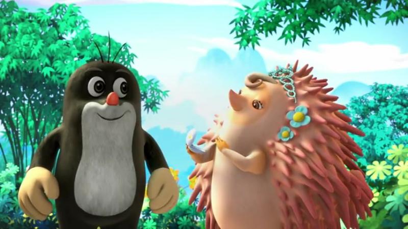 Мультфильм на Чешском языке. Krtek a panda epizoda 7 - Den objímání v lese
