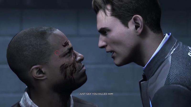 28 STAB WOUNDS MULTILANGUAGE - Connor interrogates deviant | Detroit: Become Human