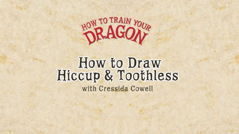 HOW TO DRAW TOOTHLESS HICCUP with Cressida Cowell