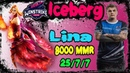 WinStrike Iceberg - Lina Mid 25 kills | Top Rank Gameplay Dota 2