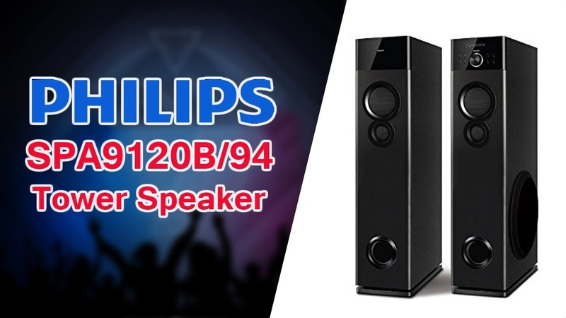 Philips SPA9120B/94 Tower Speaker Features Price | 120W Audio System | Wireless Mic For Karaoke