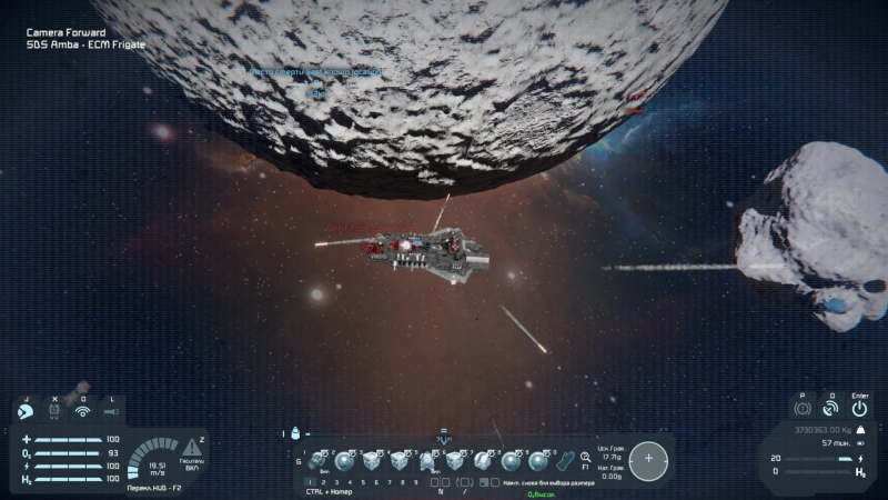 Space Engineers - Amba Firing with High G Maneuvers