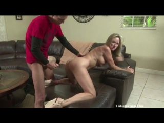 Horny stepmom can't resist  son's young cock | incest mom son Jodi West taboo