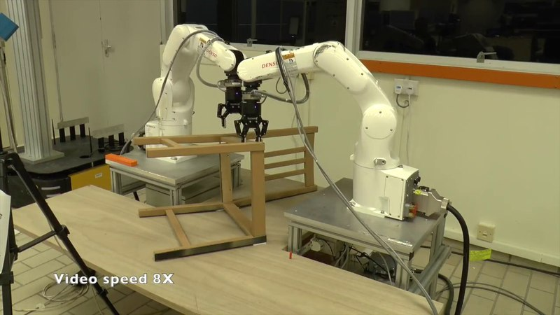 Robotic assembly of an IKEA chair frame