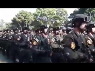 Спецназ на параде в Баку.