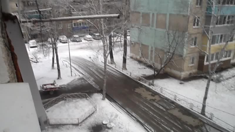 001 СНЕГ - В ЛУЧЕГОРСКЕ !