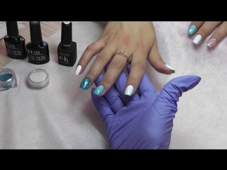 Дизайн ногтей в технике присыпка блестками