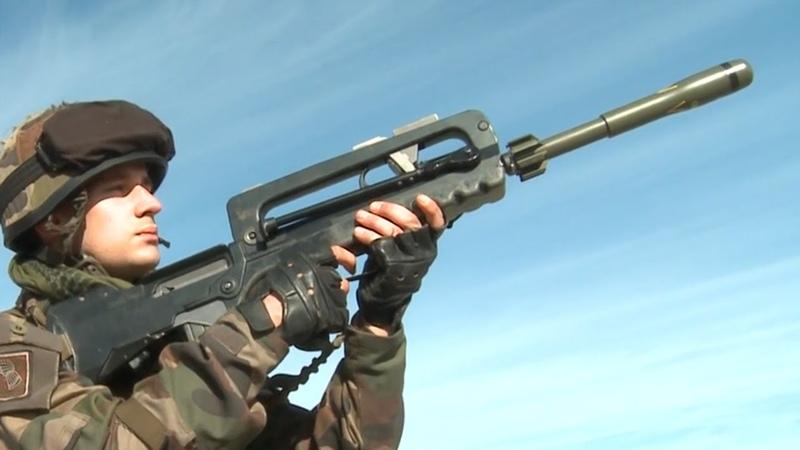 APAV40ライフルグレネード LGI Mle F1軽迫撃砲・フランス陸軍 - French Army 21e RIMa