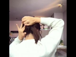 Чтобы волосы не мешали