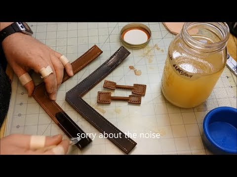 Lets Make Leather Flip Flops! - Part 5 - Cementing Soles, Sewing, Finishes, and Burnishing