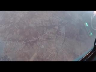 СУ-30СМ заснял пролет БПЛА над провинцией Идлиб, Сирия. Возможно Орион-Э, Шахед-129 или Reaper.