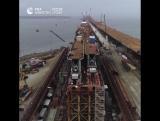 Строители приступили к сооружению железнодорожных пролетов Крымского моста