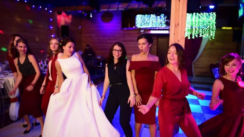 Танец невесты и подружек времяантоновых