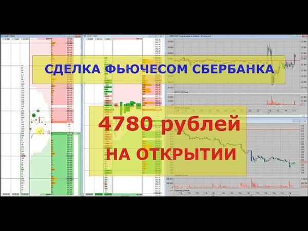 Фьючерс сбербанка. Трейдинг 06 08 18 Московская биржа