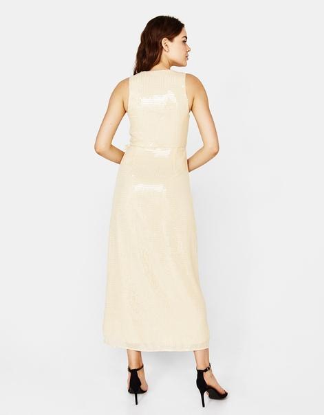 Платье миди с пайетками