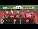 Türkiye 1-0 Hırvatistan Geniş Maç özeti HD Türkçe Anlatım