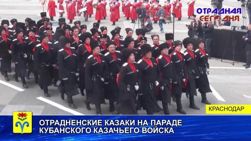 Отрадненские казаки на параде ККВ