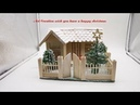 Making a Small Beautiful Christmas House by Using Popsicle Stick Popsicle Stick Cottage