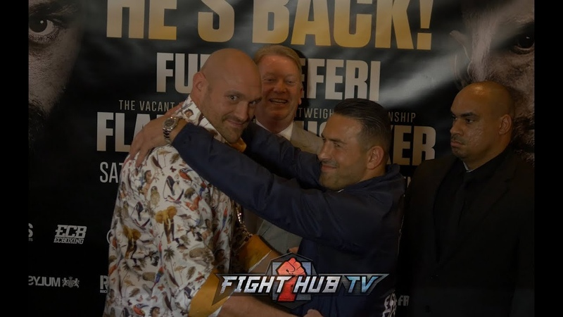 WHAT THE TYSON FURY AND SEFER SEFERI ACT OUT THEIR HIGH SCHOOL PROM DURING FACE OFF!