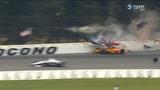 IndyCar Series 2018. Pocono Raceway. Robert Wickens Huge Crash Red Flag (All Angles)