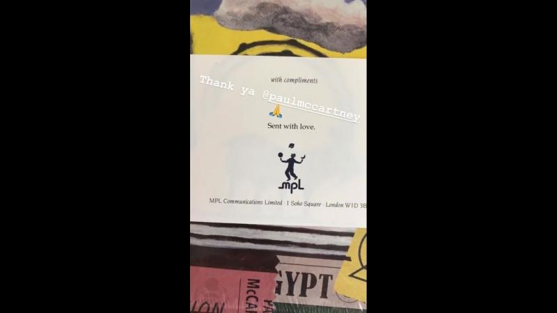 Виниловый диск с любовью от Пола Маккартни