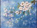 The Branch of blossom in acrylic in English