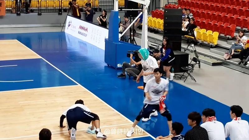 181111 台韓明星公益籃球賽 可愛的진운 강인수 珍雲 姜仁秀