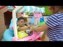 Pretend play selling food for kids, children and babies by Xavi ABCKids