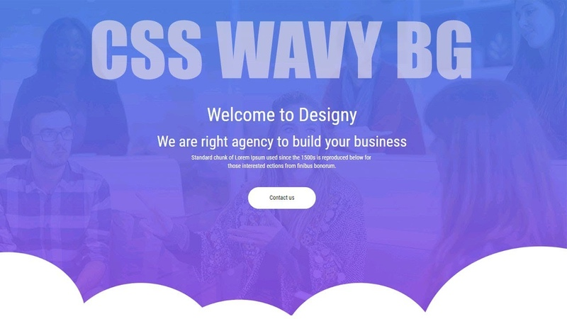 How to Create Wavy Background Using HTML 5 / CSS 3 / NO SVG / Website Design