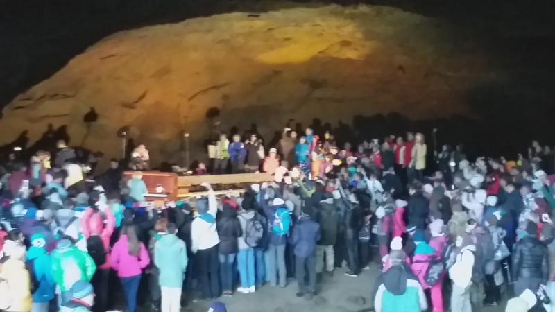 Концерт в пещере влк. Горелого. 8.09.18.