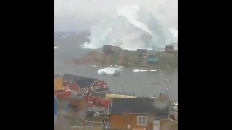 Qrenlandiyada keçən həftə çəkilmiş, buzdağının hərəkətin görürsünüz