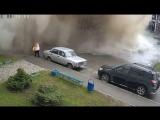 Видео эффектной коммунальной аварии в Барнауле