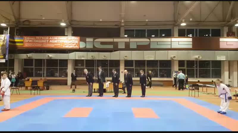 Турнир по каратэ WKF им Д Обухов 04 11 2018 г Челябинск финал кумитэ юн 10 11 лет 42кг