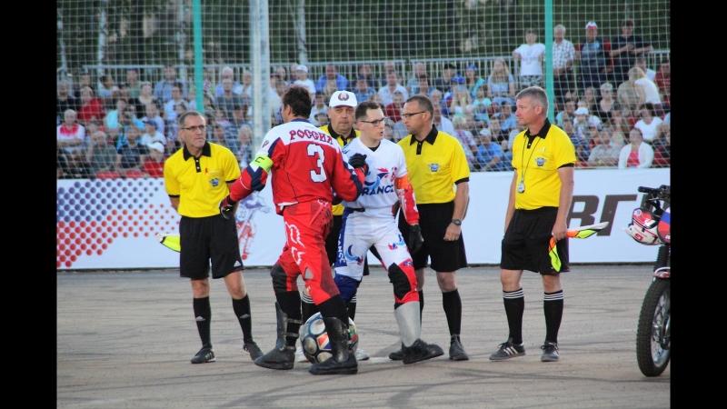 Открытие чемпионата по Мотоболу в Коврове Матч Россия Франция