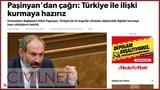 Թուրքական մամուլը՝ Փաշինյանի հայտարարու
