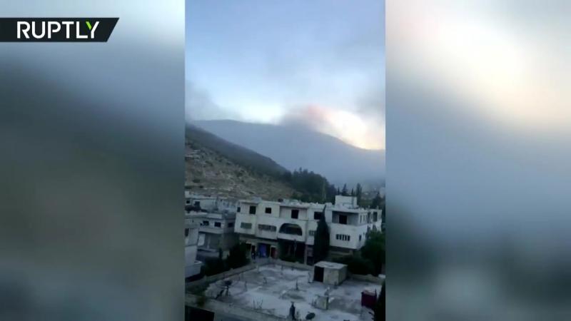 Очевидец снял последствия предполагаемого израильского удара по Сирии