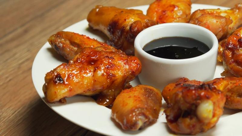 Куриные крылышки в медово-соевом соусе. Азиатская кухня. Рецепт от Всегда Вкусно.