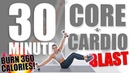 30 Minute Core and Cardio Blast Workout 🔥Burn 360 Calories!🔥