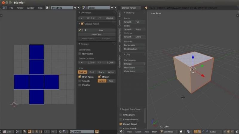 Blender. Анимация. Урок 08a - UV развёртка в Blender