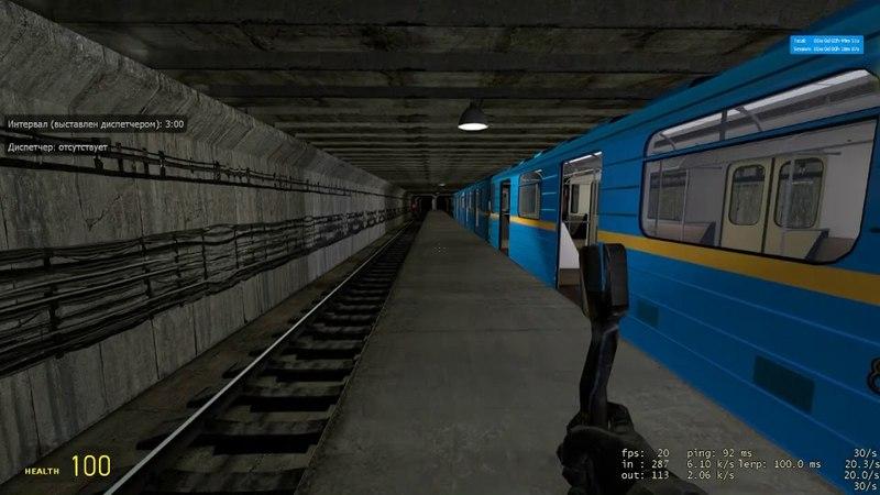Garrys mod Metrostroi Покатушки и таймлапс на NoRank сервере могло быть и хуже