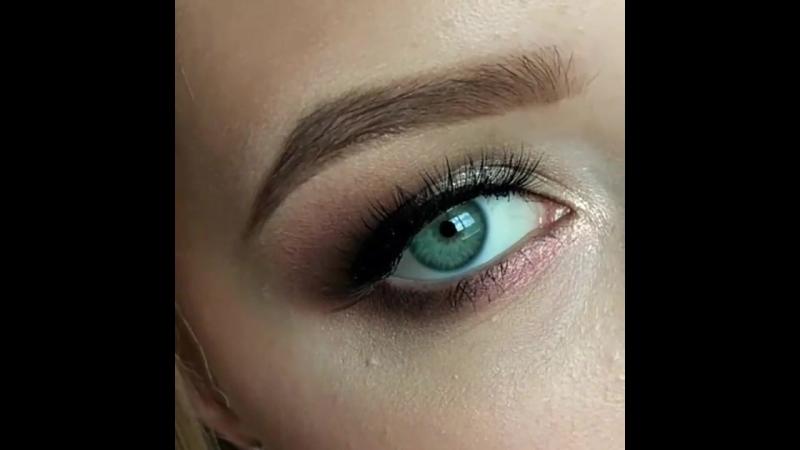 Макияж глаз с нежным розовым акцентом   Визажист Макияж Рязань