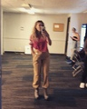 Rachel Platten on Instagram Some July green room antics. In hindsight it seems Im very annoying pre show. Sorry band - you deserve better.