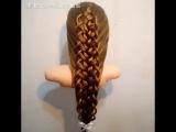 Очень красивая коса. Схема плетения