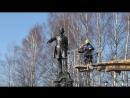 Мойка памятника Петра I в Петрозаводске 2